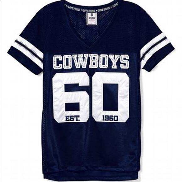 bfd9689d049 PINK Victoria's Secret Tops | Pink Vs Dallas Cowboys Bling Jersey ...